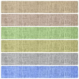 Burlap textil texture banners background set Stock Image