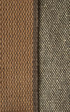 Burlap textile background. With sacking ribbon and rope stock photos