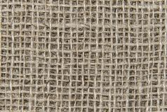 Burlap texture background closeup stock images