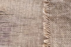 Free Burlap Textureon A Wooden Background, Rustic, Christmas . Pattern  Fabric Textile. Texture Background Stock Images - 100401354
