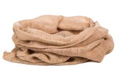Burlap torba lub worek Zdjęcia Royalty Free