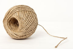 Burlap Twine. (string) isolated on white background royalty free stock photography