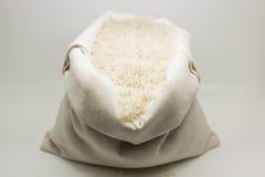 Burlap worek ryż Zdjęcia Royalty Free