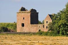Burleigh城堡废墟,苏格兰 图库摄影
