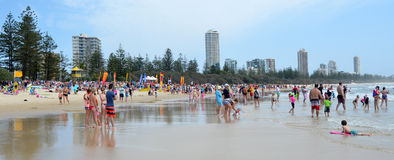 Burleigh朝向英属黄金海岸昆士兰澳大利亚 免版税图库摄影