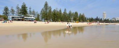 Burleigh朝向英属黄金海岸昆士兰澳大利亚 库存照片