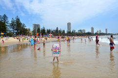 Burleigh朝向英属黄金海岸昆士兰澳大利亚 免版税库存照片
