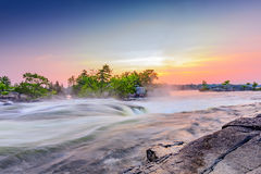 Burleigh Falls. Near Peterborough Ontario Canada photographed at dawn Royalty Free Stock Photos