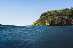 Burleigh głowy od oceanu Obrazy Stock