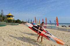 Burleigh geht Gold Coast Queensland Australien voran Stockbild