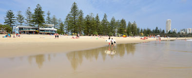 Burleigh geht Gold Coast Queensland Australien voran Stockfotos