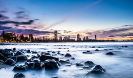 Burleigh Heads at night Royalty Free Stock Image