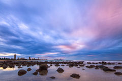 Burleigh heads at twilight Royalty Free Stock Image