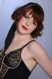 burlesk gullig retro flickadamunderkläder Royaltyfria Bilder