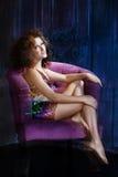 Burlesk Meisje Royalty-vrije Stock Afbeeldingen