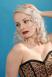 Burlesque beautiful blonde girl Royalty Free Stock Photography