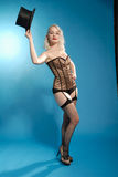 Burlesque beautiful blonde girl Stock Photo