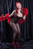 Burlesque dancer Stock Image