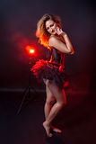 Burlesque dancer Royalty Free Stock Images