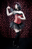 Burlesque dancer with corset Royalty Free Stock Photos