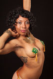 Burlesque dancer in pasties posing Stock Photo