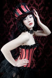 Burlesque dancer Royalty Free Stock Photography