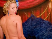 Burlesque dancer Vivian Vavoom Royalty Free Stock Photo