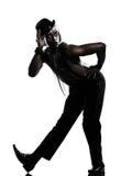 Burlesque del cabaret del baile del bailarín del hombre Foto de archivo libre de regalías