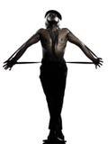 Burlesque del cabaret del baile del bailarín del hombre Fotos de archivo