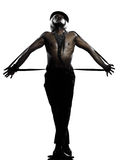 Burlesque del cabaret di dancing del danzatore dell'uomo Fotografie Stock