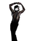 Burlesque del cabaret di dancing del danzatore dell'uomo Immagine Stock