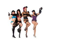 Burlesque Doll Dancers Royalty Free Stock Image