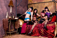 Burlesque Dolls Royalty Free Stock Images