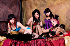 Burlesque Dolls Stock Image