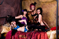 Burlesque Dolls Royalty Free Stock Photography