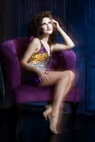 Burlesque girl Royalty Free Stock Photo
