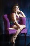Burlesque girl Stock Image