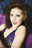 Burlesque girl Stock Photos