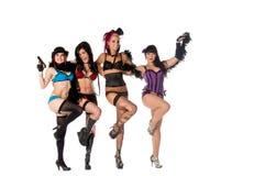 Burlesque a los bailarines de la muñeca Imagen de archivo libre de regalías