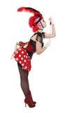 Burlesque Mädchen Lizenzfreies Stockfoto