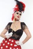Burlesque Mädchen Lizenzfreie Stockbilder