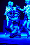 Burlesque. Performance on a hotel in Bodrum royalty free stock images