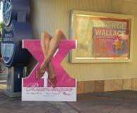 Burlesque Sign at Pink Flamingo Stock Photos