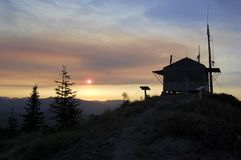 Burley Mountain Fire Lookout near Mount St. Helens Stock Photos