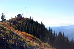 Burley Mountain Fire Lookout near Mount St. Helens Stock Image