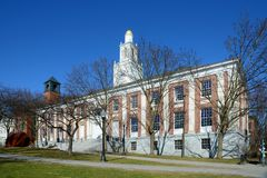 Burlington City Hall, Burlington, Vermont. Burlington City Hall at the intersection of Church Street and Main Street in Burlington, Vermont, USA stock photo