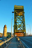 Burlington lift bridge-from the road Stock Photos