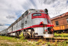 Locomotive Train - Burlington Railroad - Goldcoast Royalty Free Stock Photos