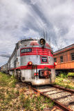 Locomotive Train - Burlington Route - Goldcoast Railroad. A Head-On 3 Shot Bracket HDR of No. 9913, which was originally delivered to the Chicago Burlington & Royalty Free Stock Photography