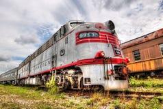 Burlington lokomotiv - Goldcoast järnväg Royaltyfria Foton